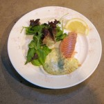 Baked Salmon Fillet with herb cream sauce